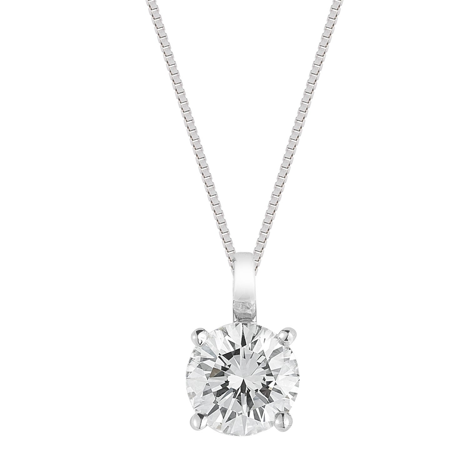 in necklace diamond solitaire gold white