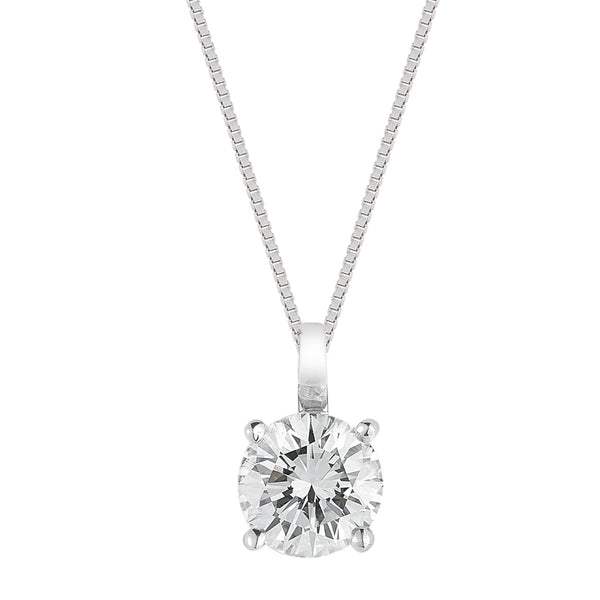 0.30 Carat Four Prong Diamond Solitaire Pendant-75% OFF!