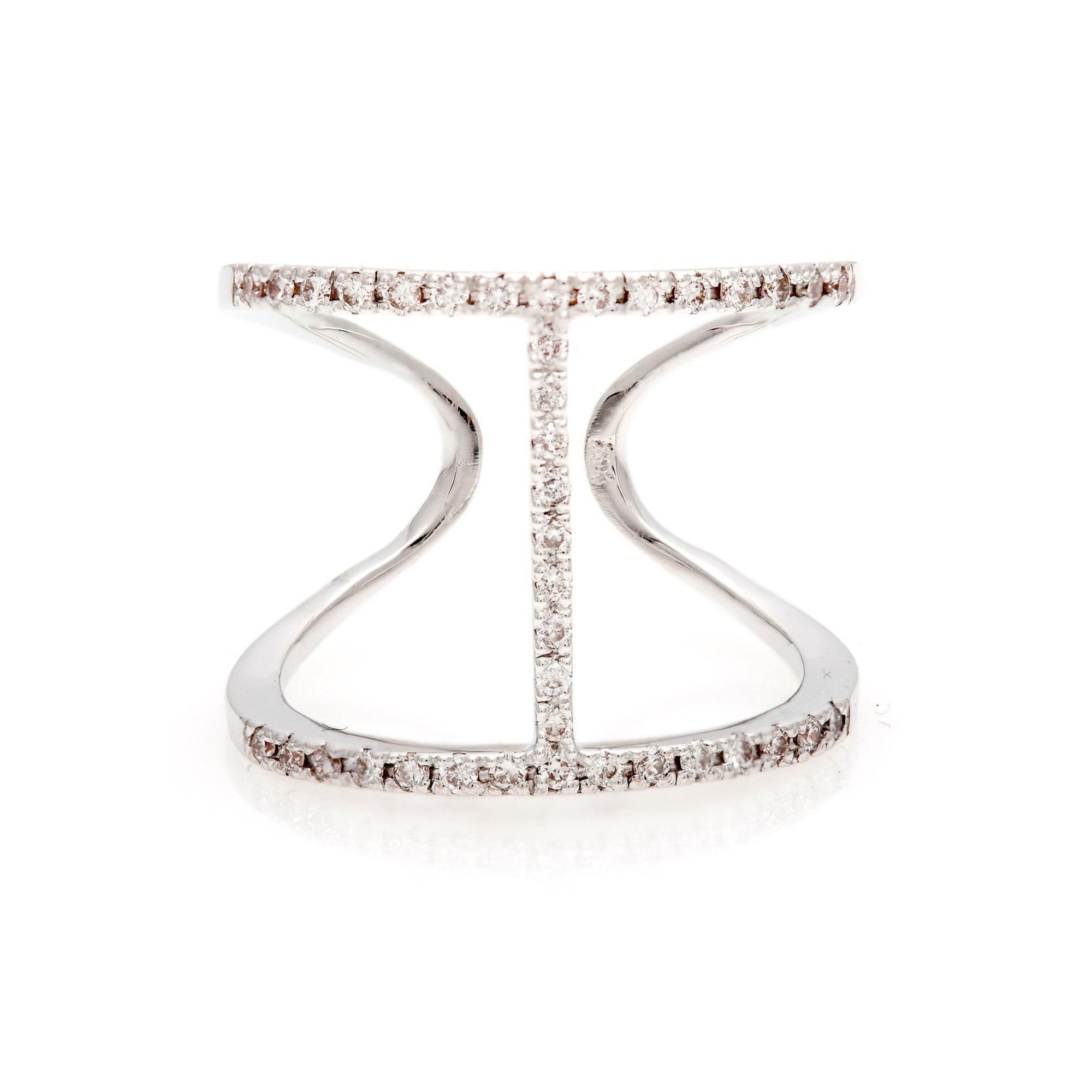 Pavé 'H' Diamond Ring- 50% OFF!