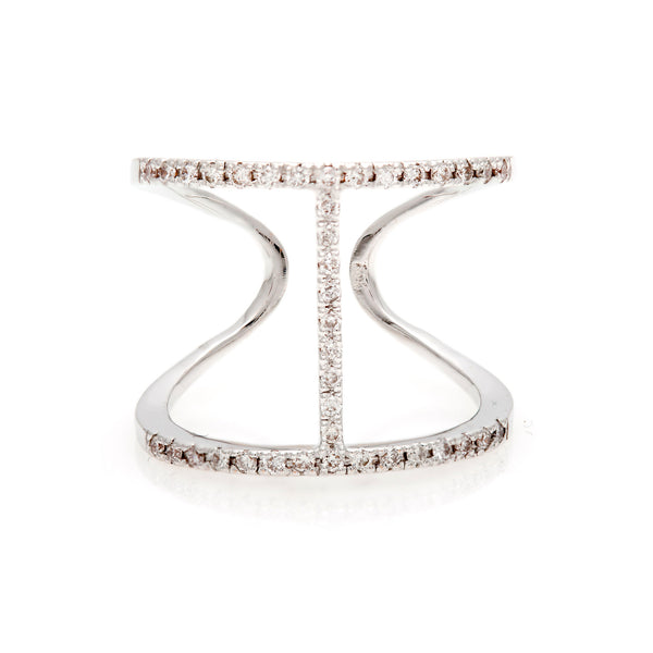 Pavé 'H' Diamond Ring- 60% OFF!