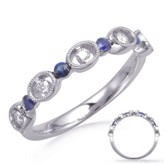 Alternating Diamonds and Sapphires Ring