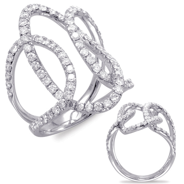 Pave Intertwined Diamond Ring