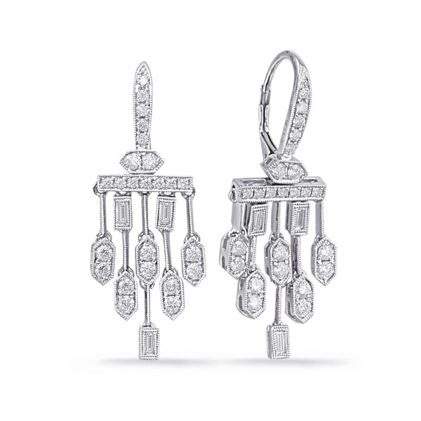 Deco Inspired Drop Chandelier Earrings