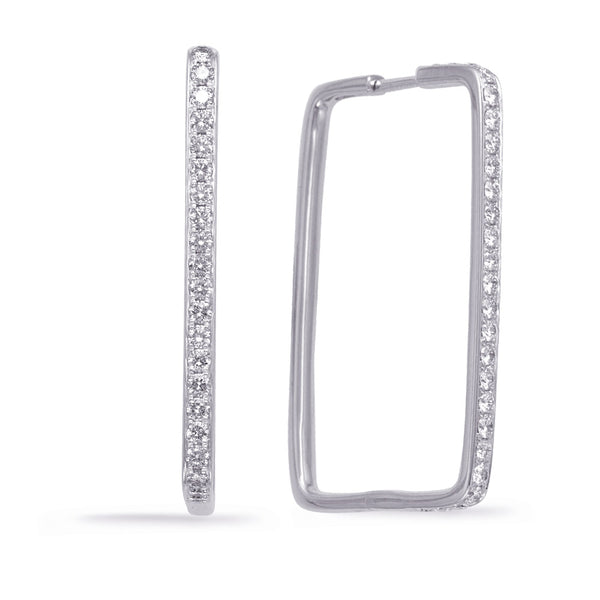 The Modern Diamond Hoop