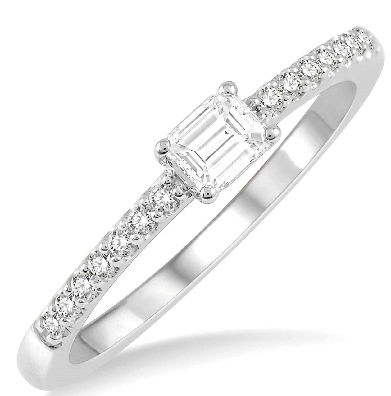 Stackable Emerald Cut Diamond Ring--30% OFF!