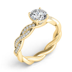 Yellow Gold Rope Engagement Ring