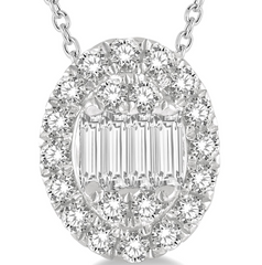 The Oval Diamond Pendant--70% OFF!