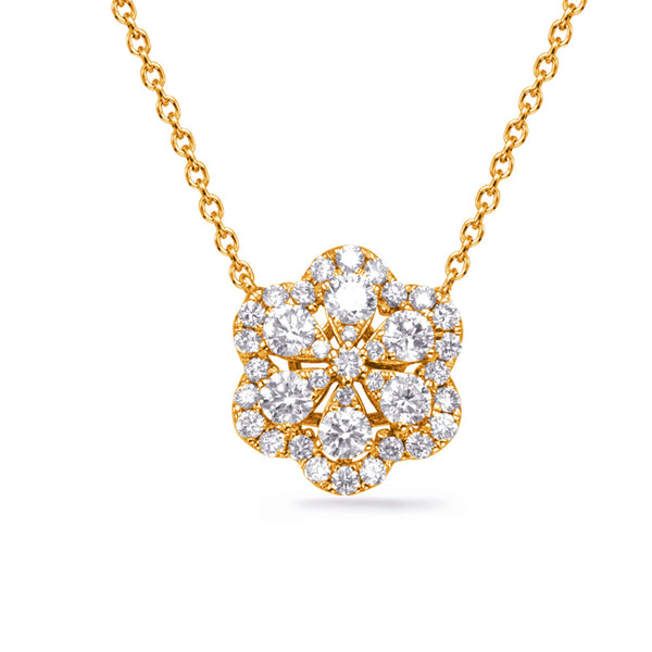 The Blossoming Diamonds Necklace--ON SALE 40 % OFF!