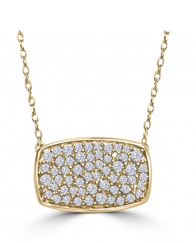 Pave Diamond Geometric Pendant--70% OFF!