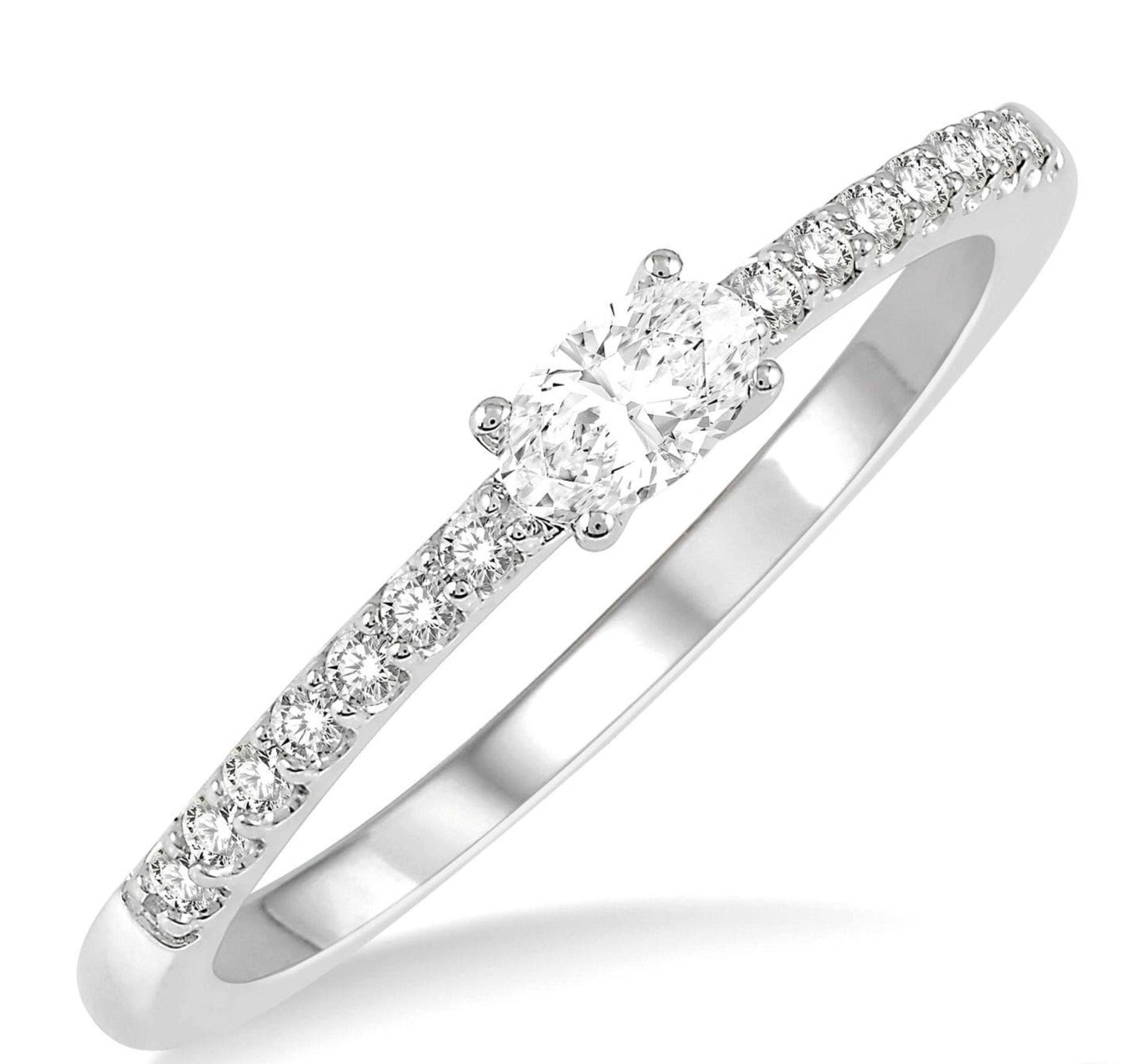 Stackable Oval Diamond Ring--30% OFF!