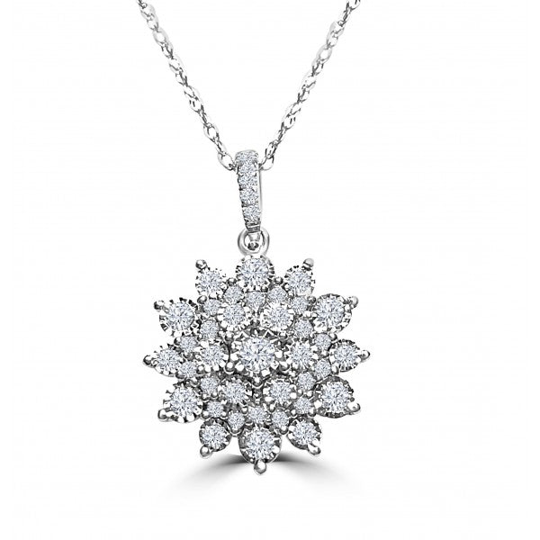 Cluster Flower Pendant--OVER 65% OFF!