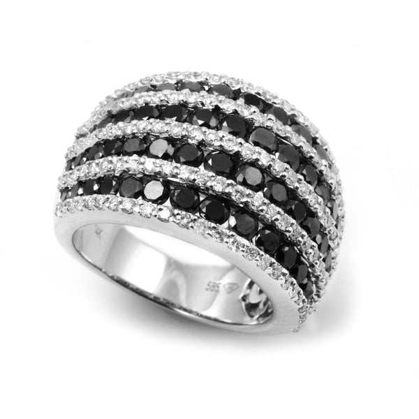 Statement Black and White Diamond Ring