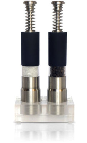 Spring Action Black Salt and Pepper Grinder Set