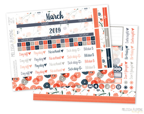 HP Pretty Poppy Monthly Sticker Kit - 101