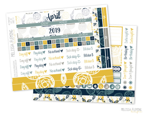 HP Sweet Bird Monthly Sticker Kit - 102