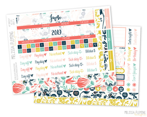 HP Botanical Bee Monthly Sticker Kit - 105