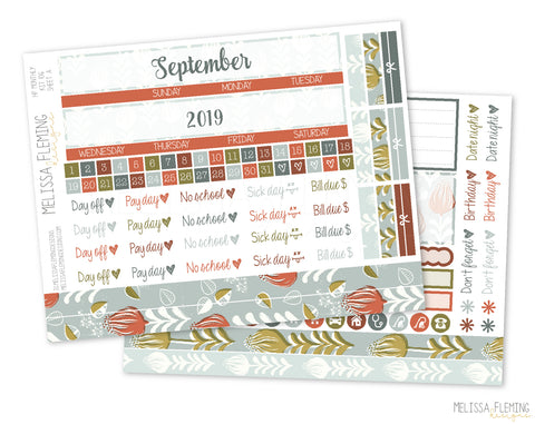 HP Vintage Floral Monthly Sticker Kit - 106
