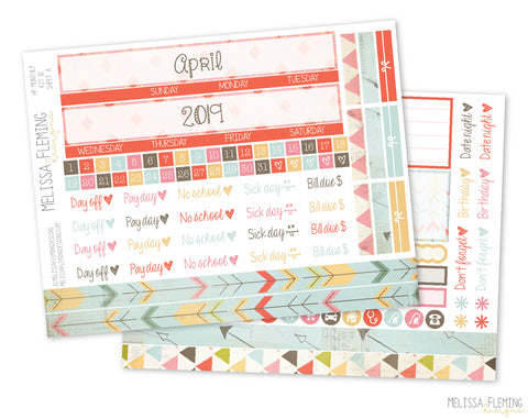 HP Monthly Sticker Kit - 112