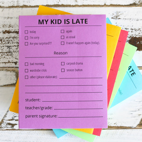 Late Notes for Kids
