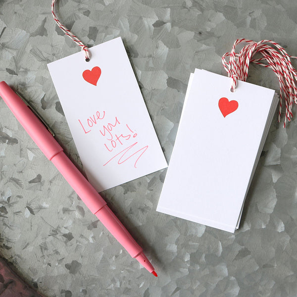 Red Heart Tags