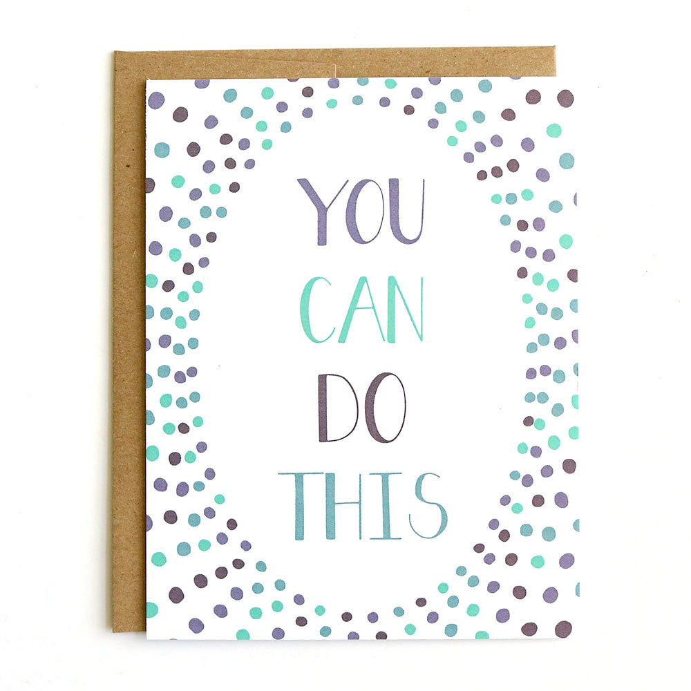 You Can Do This - Hand-drawn greeting card