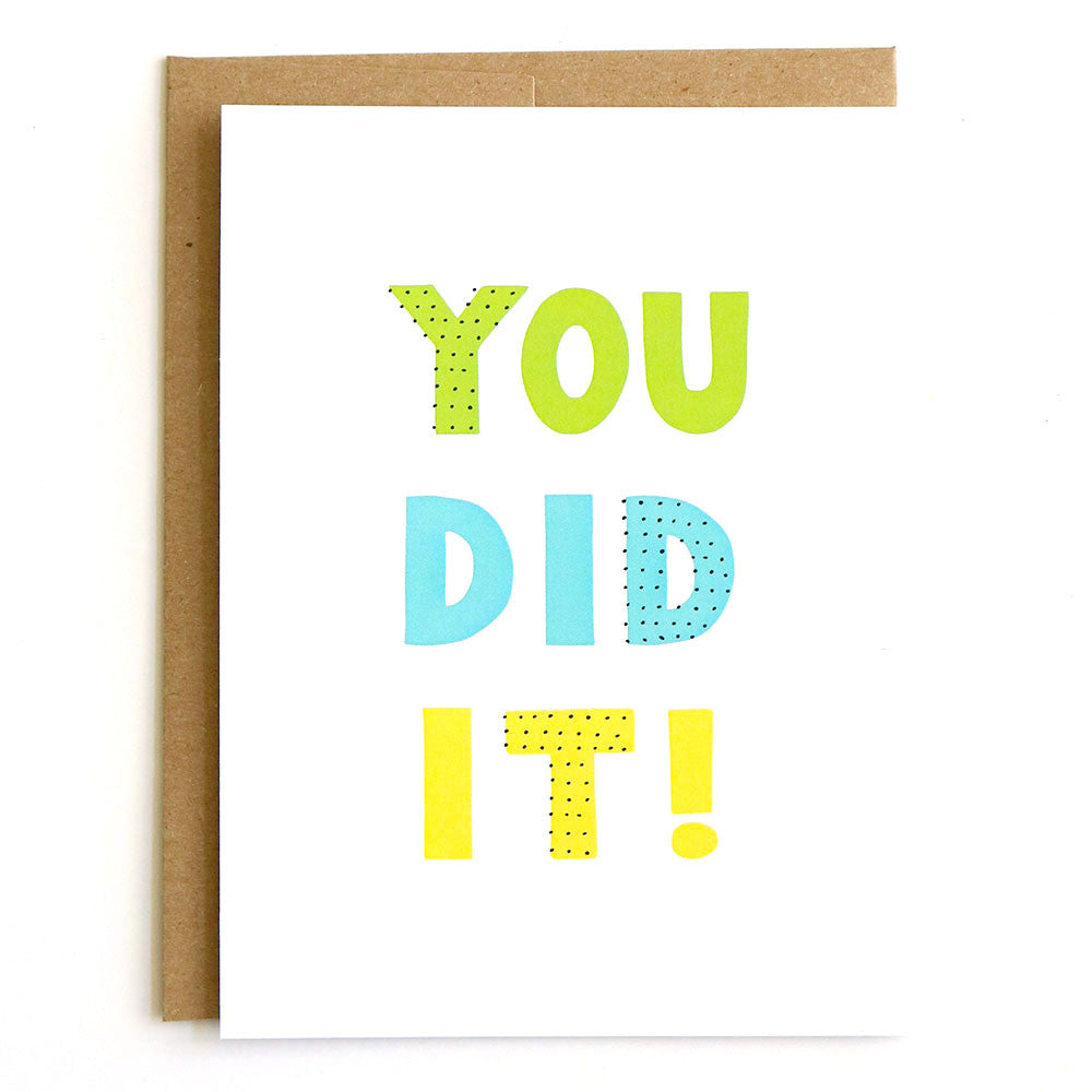 You Did It! Hand-drawn greeting card