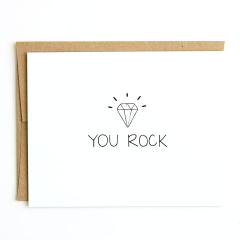 You Rock - Hand-drawn greeting card