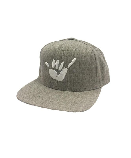 hawaii-domestic-market-hats-heather-grey-one-size-hawaii-domestic-market-snapback-hat-hdm-shaka-embroidery-front