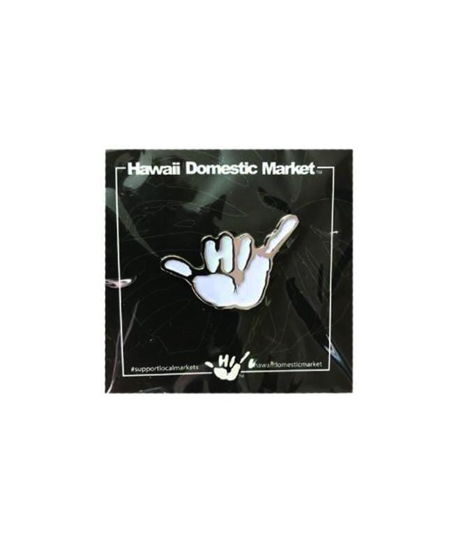 hawaii-domestic-market-home-goods-white-glow-one-size-hawaii-domestic-market-pin-hdm-shaka-front