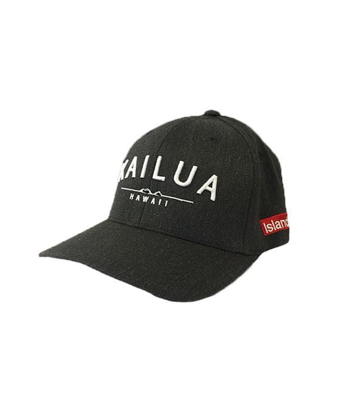 island-snow-hawaii-hats-dark-heather-s-m-island-snow-hawaii-flexfit-hat-is-kailua-front