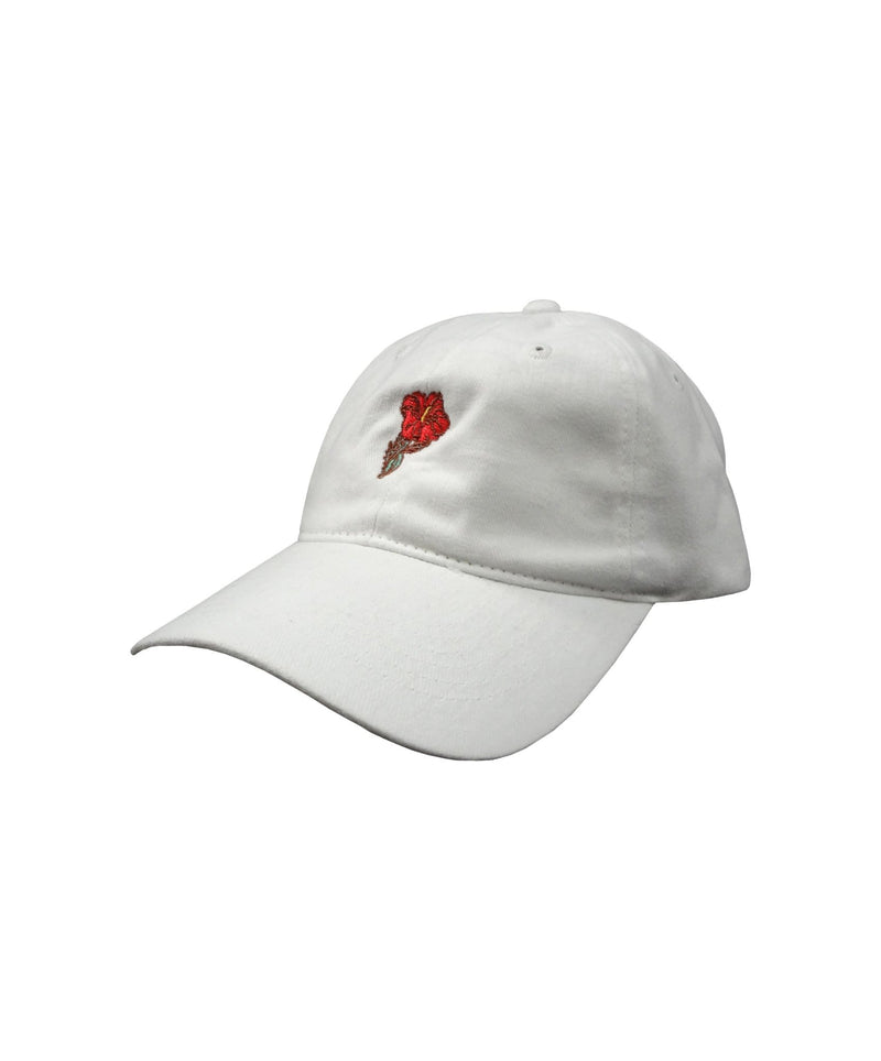 island-snow-hawaii-hats-white-one-size-island-snow-hawaii-brushed-twill-strapback-hat-is-small-hibiscus-front
