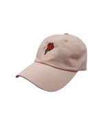 island-snow-hawaii-kids-accessories-light-pink-one-size-island-snow-hawaii-kids-brushed-twill-strapback-hat-is-small-hibiscus-front