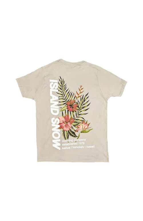 Island Snow Hawaii Kids' Shirts Light Grey / Small Island Snow Hawaii Kids' Premium Tee - IS Bouquet