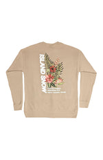 Island Snow Hawaii Men's Sweatshirts Tan / X-Small Island Snow Hawaii Crew Sweat - IS Bouquet