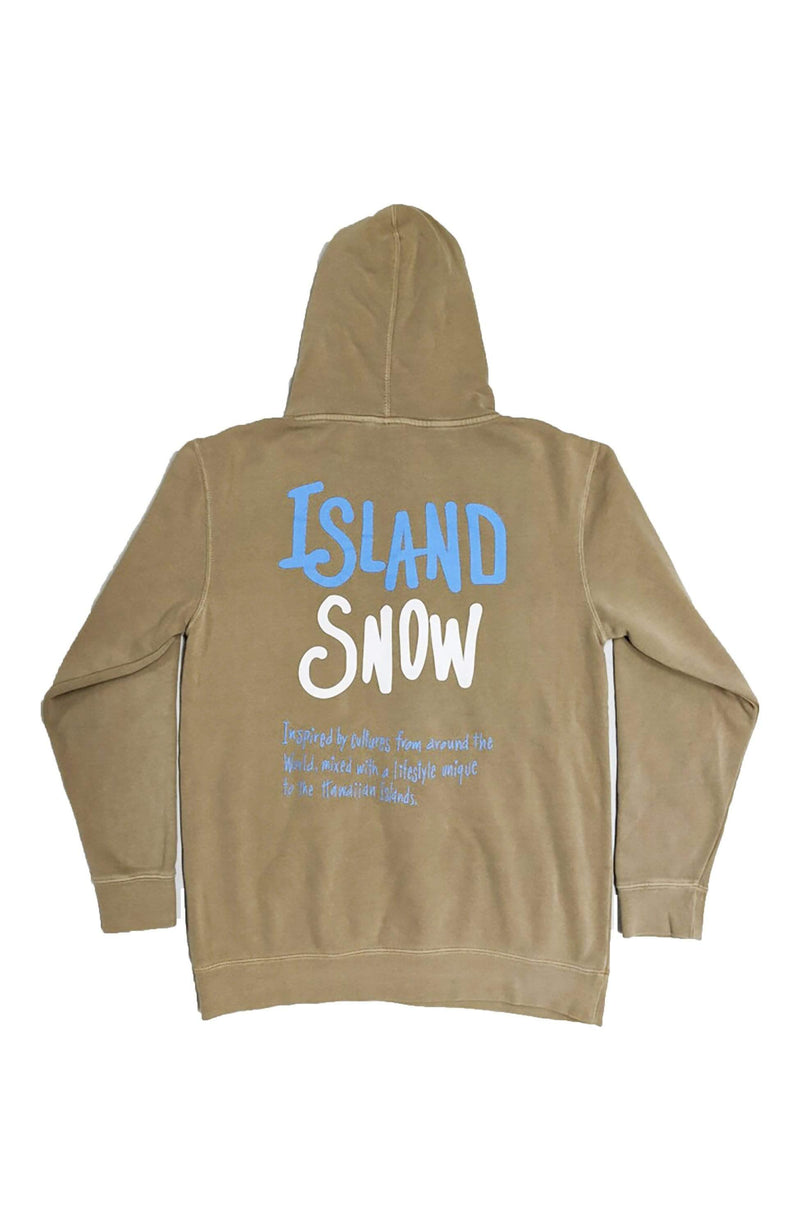Island Snow Hawaii Sandstone / X-Small Island Snow Hawaii Garment Dyed Pullover Hoodie - IS Inspired