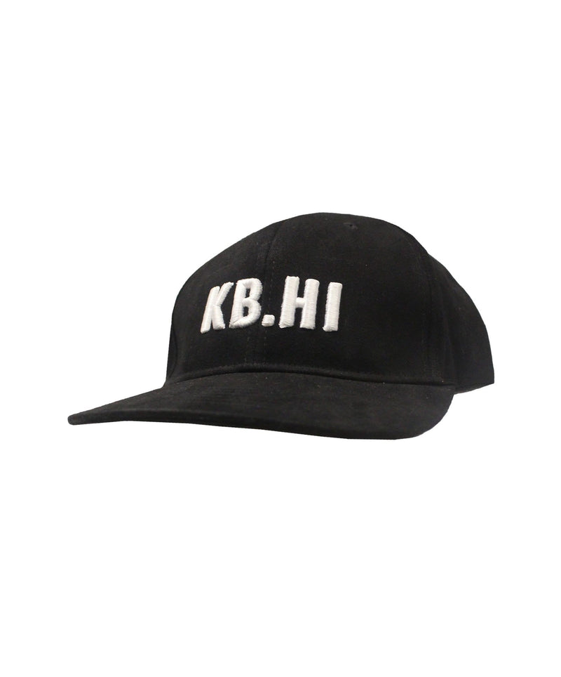 kailua-boys-hats-one-size-black-kailua-boys-sueded-cotton-snapback-hat-kb-caution-front