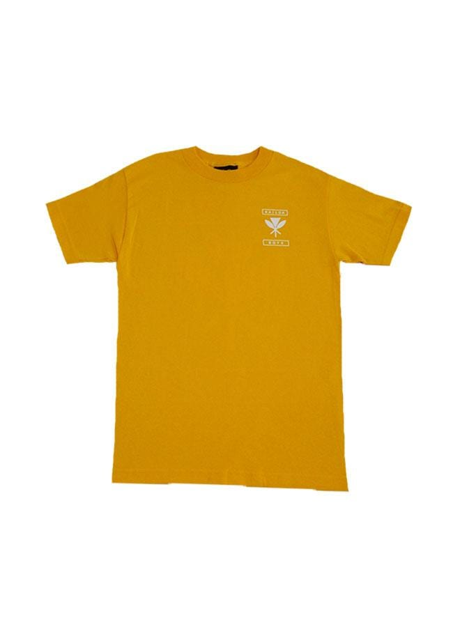 kailua-boys-mens-shirts-gold-small-kailua-boys-heavyweight-tee-kb-coat-of-arms-front-gold