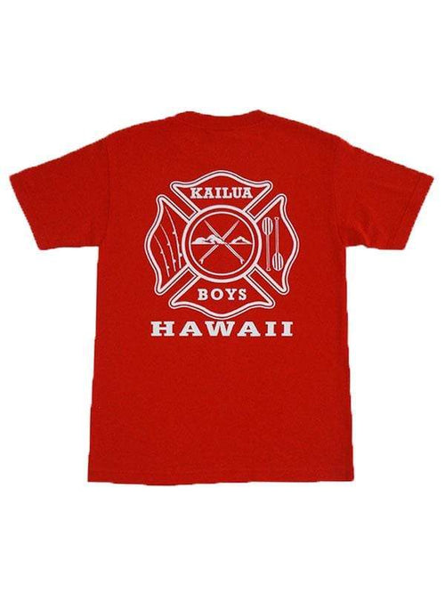 Kailua Boys Men's Shirts Red / Small Kailua Boys Heavyweight Tee - KB Stop, Drop & Roll