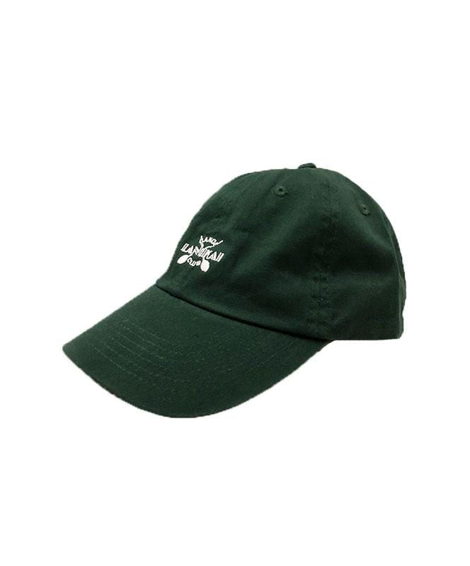 lanikai-canoe-club-hats-forest-green-one-size-lanikai-canoe-club-strapback-hat-lcc-cross-paddles-front