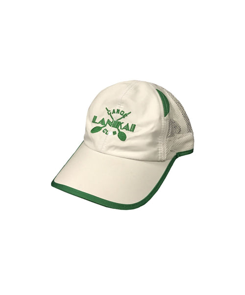 lanikai-canoe-club-hats-one-size-green-white-lanikai-canoe-club-water-sport-cap-lcc-cross-paddles-front