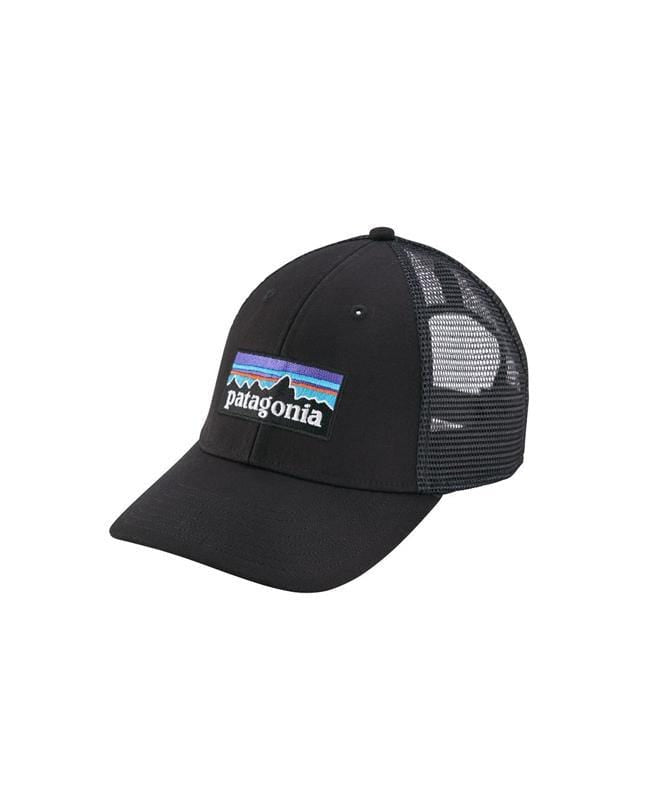 patagonia-hats-one-size-black-patagonia-trucker-hat-p-6-logo-lopro-trucker-hat-front