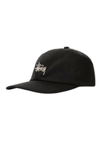 stussy-hats-black-one-size-stussy-strapback-hat-stock-low-pro-front