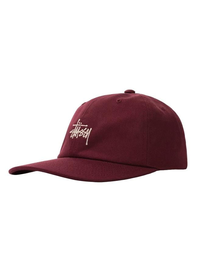 stussy-hats-maroon-one-size-stussy-strapback-hat-stock-low-pro-front