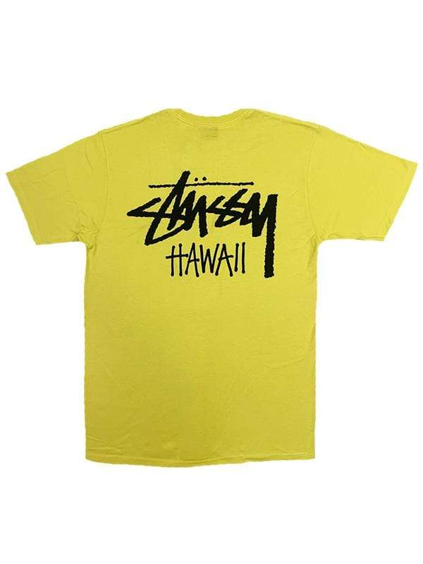 Stussy Men's Shirts Lemon / Small Stussy Hawaii Tee - Stussy Hawaii