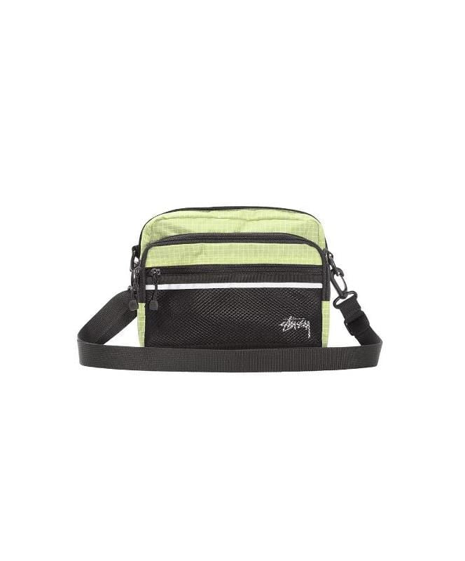 stussy-wallets-lime-one-size-stussy-shoulder-bag-ripstop-nylon-front