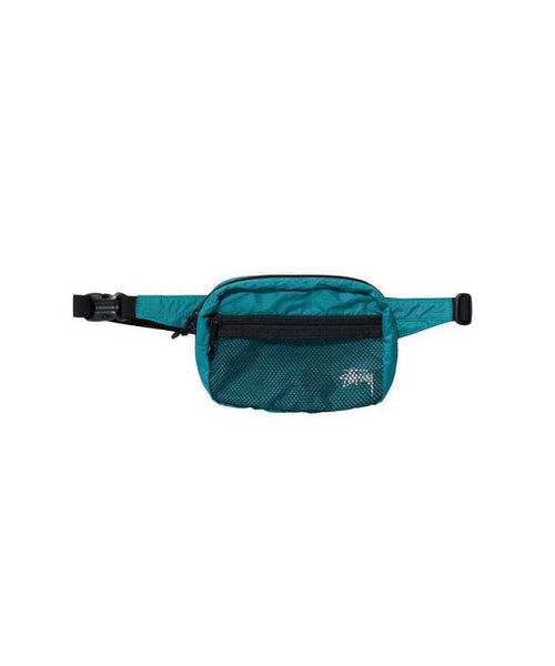 stussy-wallets-teal-one-size-stussy-waist-bag-lightweight-front