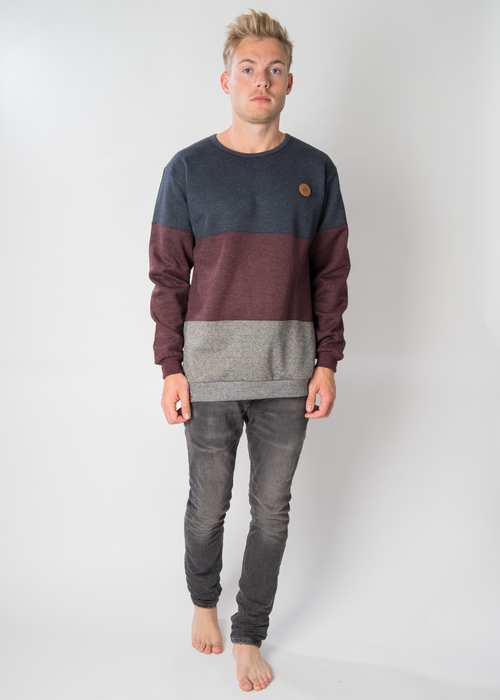 Sweater KLÖNDÖR Navy/Striped/Melange