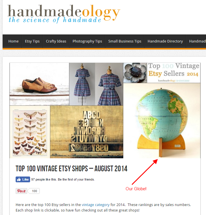 Top 100 Etsy Shops August 2014