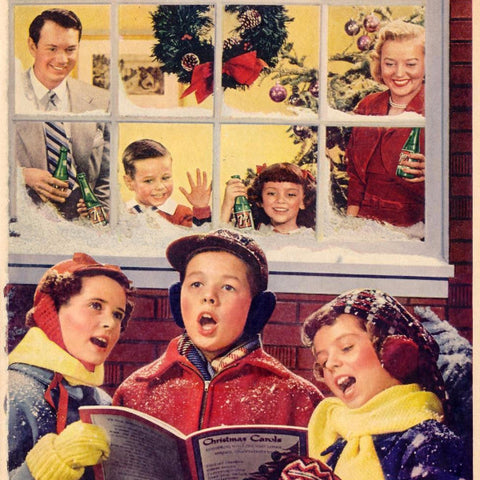 "Digital Download ""7-Up Christmas Ad"" (c.1951) - Instant Download Printable - thirdshift"
