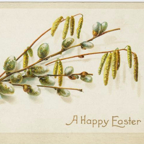 "Digital Download ""A Happy Easter"" Easter Postcard (c.1910) - Instant Download Printable - thirdshift"